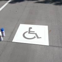 "30"" Handicap Parking Lot Stencil 2mm PVC"