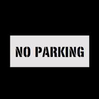 Reusable No Parking Stencil
