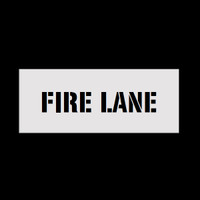 Reusable Fire Lane Stencil