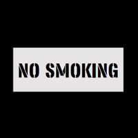 Reusable No Smoking Stencil