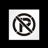 Reusable No Parking Symbol Stencil
