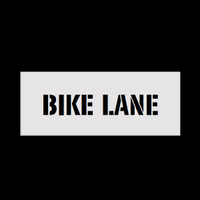 Reusable Bike Lane Stencil