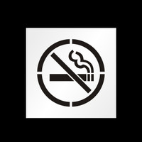 Reusable No Smoking Symbol Stencil