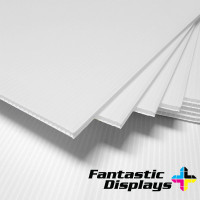 "18"" x 24"" Blank Corrugated Plastic Sheets - White"