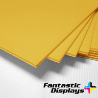 "18"" x 24"" Blank Corrugated Plastic Sheets - Yellow"