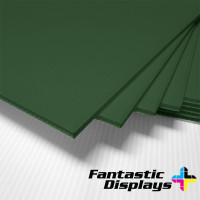 "18"" x 24"" Blank Corrugated Plastic Sheets - Green"