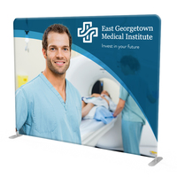 10ft. Straight Fabric Tube Display for Trade Shows
