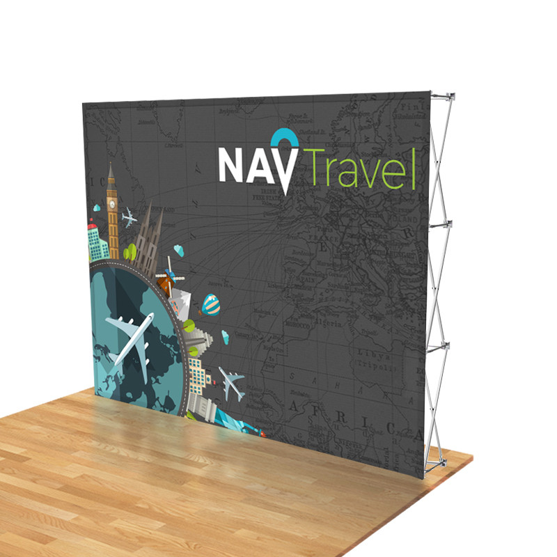 10ft  Stretch Fabric Pop Up Display for Trade Shows