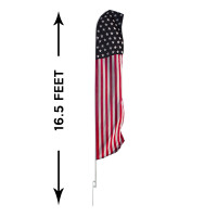 16ft. Full Color Custom Advertising Flag Banner Kit
