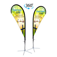 8ft. Double Sided Custom Teardrop Advertising Flag Kit with Banner