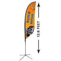13ft. Custom Feather Advertising Flag Kit with Banner
