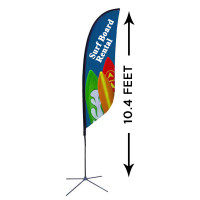 10ft. Custom Feather Advertising Flag Kit with Banner