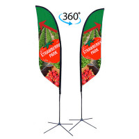 10ft. Double Sided Custom Feather Advertising Flag Kit with Banner