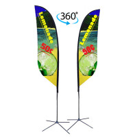 13ft. Double Sided Custom Feather Advertising Flag Kit with Banner