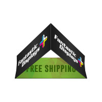 5ft. Triangular Hanging Banner - Trade Show Booth Overhead Display Sign