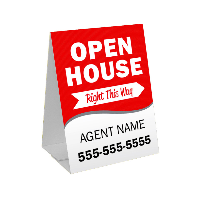 Open House Sandwich Board Corrugated Plastic A Frame Sign