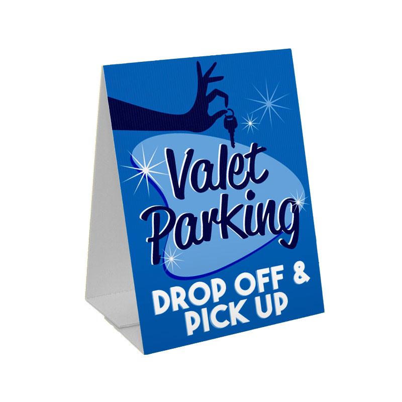 Valet Parking Sandwich Board Corrugated Plastic A Frame Sign
