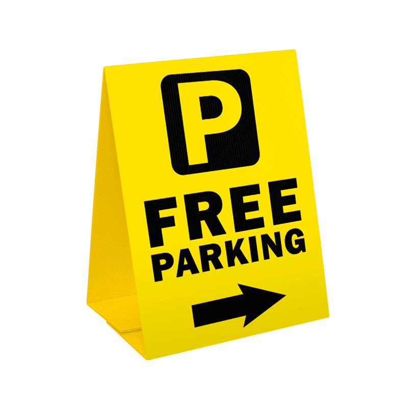 Free Parking Sandwich Board Corrugated Plastic A Frame Sign