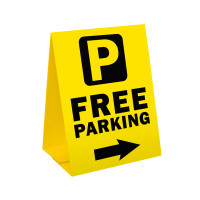 Free Parking Sandwich Board Corrugated Plastic A-Frame Sign