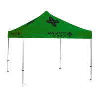 10x10 Green Trade Show Event Canopy With Custom Logo