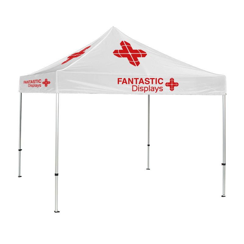 Trade Show Canopy 10x10 Tent Custom Logo White