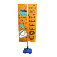 5ft. Outdoor Sidewalk Empire Flag Stand with Banners