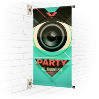 "24"" Wall Mounted Flat Pole Banner"