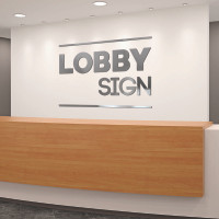 Dimensional Letters Custom Lobby Sign Kit For Reception Area Office Sign