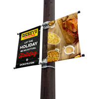 "18"" Double Street Light Pole Banners"