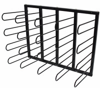 20-Roll Wall Mounted Media Roll Storage Rack