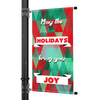Holiday Themed Street Pole Banner Kit with Print