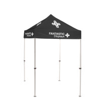 5x5 Black Trade Show Event Canopy With Custom Logo