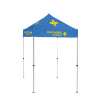 5x5 Blue Trade Show Event Canopy With Custom Logo