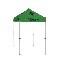 5x5 Green Trade Show Event Canopy With Custom Logo