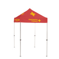 5x5 Red Trade Show Event Canopy With Custom Logo