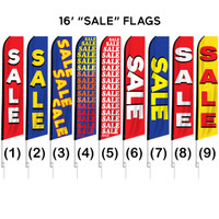 "16ft. Full Color ""Sale"" Advertising Flag Banner Kits"