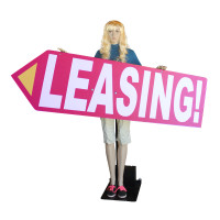 Arrow Spinner Sign Waving Robot Mannequin - Printed Arrow Sign Included
