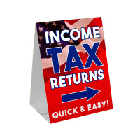 Income Tax Return (RED) Sandwich Board Corrugated Plastic A-Frame Sign