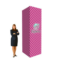 10' Trade Show Display Tower - Branded Pillar