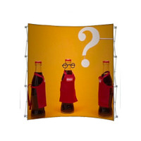 8ft. Curved Tension Fabric Pop Up Display for Trade Shows