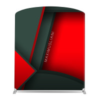 "78"" Curved Tube Fabric Banner Stand"
