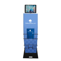 "48"" Custom Trade Show Fabric iPad Tablet Display Stand"