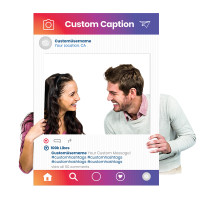 "Custom Printed Selfie Frame for Social Media Marketing - In ""Color Spectrum"" Photography Booth Prop (Digital Files or Corrugated Plastic)"