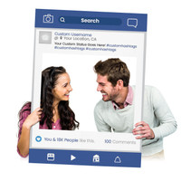 """Custom Printed """"Search"""" Selfie Frame for Social Media Marketing Photography Booth Prop (Digital Files or Corrugated Plastic)"""