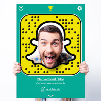 "Custom Printed Snapchat ""Snapcode"" Selfie Frame Cutout for Social Media Marketing Photography Booth Prop (Digital Files or Corrugated Plastic)"