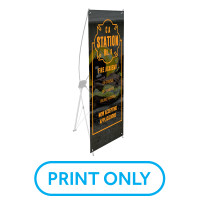 "Replacement Freestanding BSX24 Banner (24""x63"")"