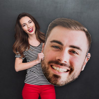 Custom Printed Big Face Cutout - Giant Head Printed Cutouts for Social Media Marketing and Event Photo Booth Props (Digital or Corrugated Plastic)