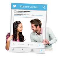 Custom Printed Selfie Frame for Twitter Social Media Marketing - Custom Twitter Frame Cutout (Digital Files or Corrugated Plastic)