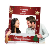 Custom Printed  Holiday Selfie Frame Photo Booth Prop Cutout (Digital or Corrugated Plastic)