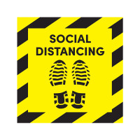 Social Distancing Shoe Print Floor Sign Decal (Pack of 6)